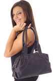 Happy model with purse Stock Photography