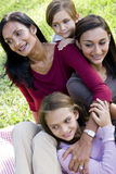 Happy modern multicultural family royalty free stock photo