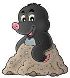 Happy mole theme image 1 Stock Image