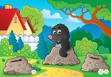 Happy mole theme image 2 Royalty Free Stock Photography
