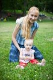Happy mom  and baby Royalty Free Stock Photo