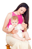 Happy mom and baby Royalty Free Stock Photography
