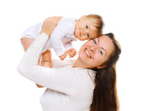 Happy mom and baby having fun Stock Photography