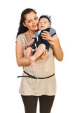 Happy mom with baby son Royalty Free Stock Images