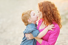 Happy Mom and baby son Stock Image