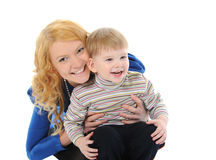 Happy mom with a child Stock Photo