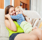 Happy mom with child Stock Photography