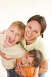 Happy mom and children Royalty Free Stock Photography