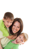 Happy mom and children Stock Photos