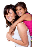 Happy mom and daughter Stock Photography