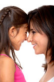 Happy mom and daughter Royalty Free Stock Photography