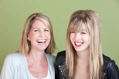 Happy Mom and Daughter Stock Photos