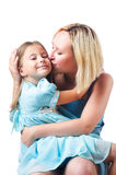 Happy mom and daughter Stock Images