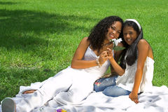 Happy mom and girl Stock Photography