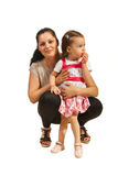 Happy mom with her daughter royalty free stock image