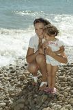 Happy mom with her daughter Stock Image