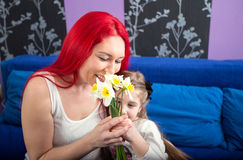 Happy mom with her daughter Royalty Free Stock Images