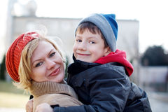 Successful mother with her son Stock Photos