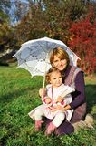 Happy mom and little girl Royalty Free Stock Images