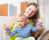 Happy mom with toddler Royalty Free Stock Photography