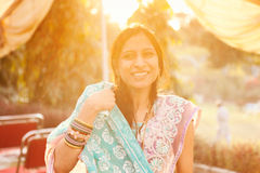 Happy moment of indian women Stock Photo