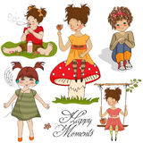 Happy moments items collection Royalty Free Stock Photography