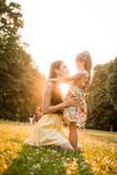 Happy moments - mother and child Royalty Free Stock Image