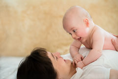 Happy moments with my baby Royalty Free Stock Photography
