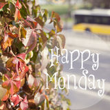 Happy Monday Inspirational Design Stock Image