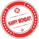 HAPPY MONDAY   orange stamp. Stock Image