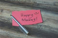 Happy Monday. On paper retro style stock image