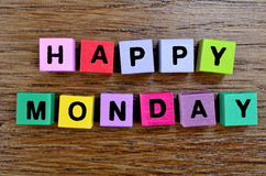 Happy Monday on table. Happy Monday on wooden table stock photo