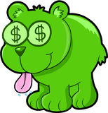 Happy Money Bear Vector Illustration Art Stock Photo