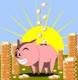 Happy Money box Stock Images