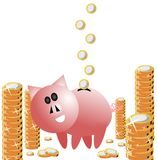 Nice Happy Money box isolated Royalty Free Stock Photography