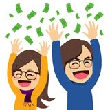 Happy Money Couple Royalty Free Stock Images
