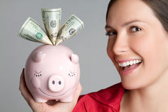 Happy Money Woman Royalty Free Stock Images