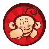 Happy monkey. Cute mascot of a monkey Stock Photo