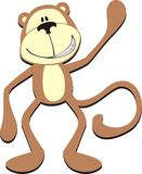 Happy monkey cartoon Royalty Free Stock Photos