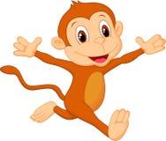 Happy monkey cartoon Royalty Free Stock Photos