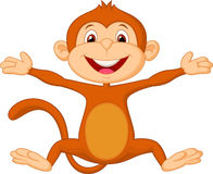 Happy monkey cartoon Stock Image