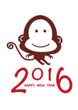 Happy 2016 monkey chinese new year Stock Photo