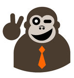 Happy monkey Stock Image