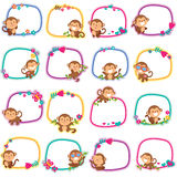 Happy monkey layout design Stock Photography