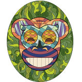 Happy monkey mask. In ethnic style Stock Photo