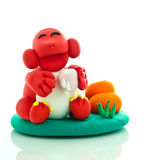 Happy monkey toy Stock Photo