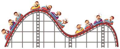 Free Happy Monkeys Riding On Roller Coaster On White Background Stock Image - 169487111