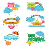 Happy Monsoon Sale Offer promotional and advertisment banner. Vector illustration of Happy Monsoon Sale Offer promotional and advertisment banner Royalty Free Stock Photo