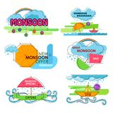 Happy Monsoon Sale Offer promotional and advertisment banner. Vector illustration of Happy Monsoon Sale Offer promotional and advertisment banner Stock Photography