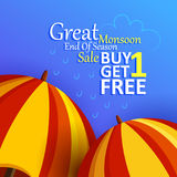 Happy Monsoon Sale Offer promotional and advertisment banner Stock Images